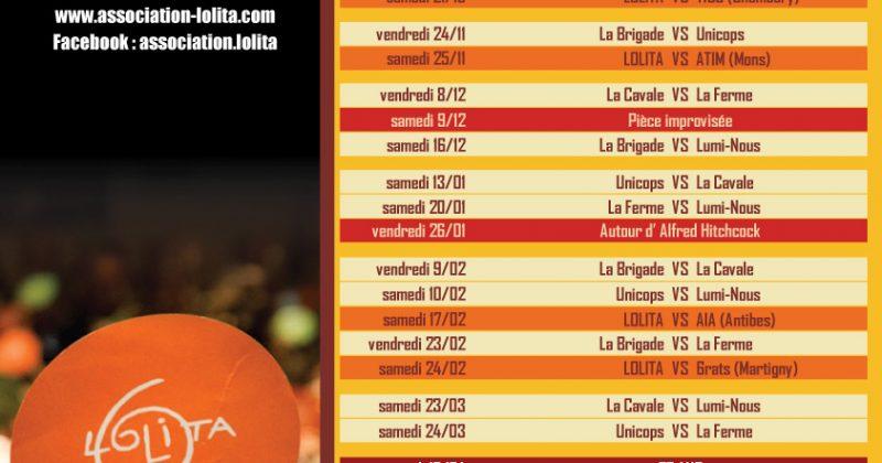 Programme de la saison 2017-2018