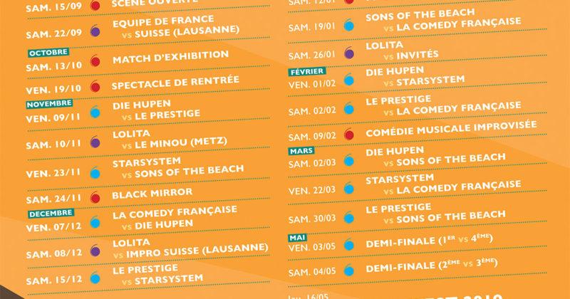 Le calendrier du championnat de la Lolita 2018 – 2019