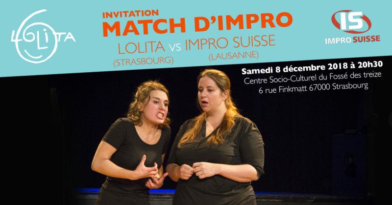 Match d'impro : Lolita vs Impro Suisse (Lausanne)