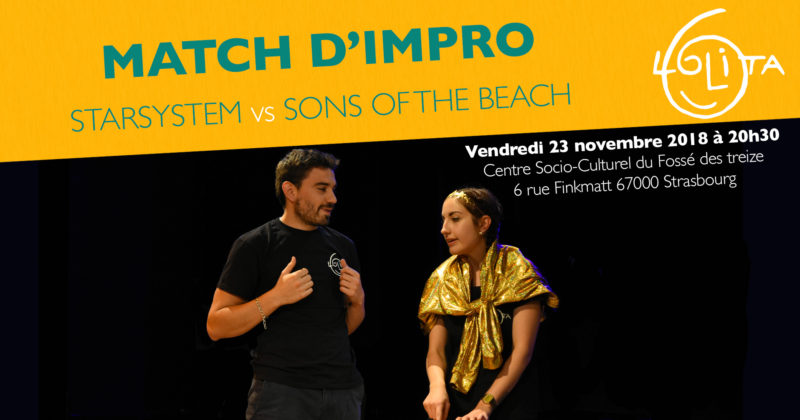 Match d'impro : Starysystem vs Sons of the Beach