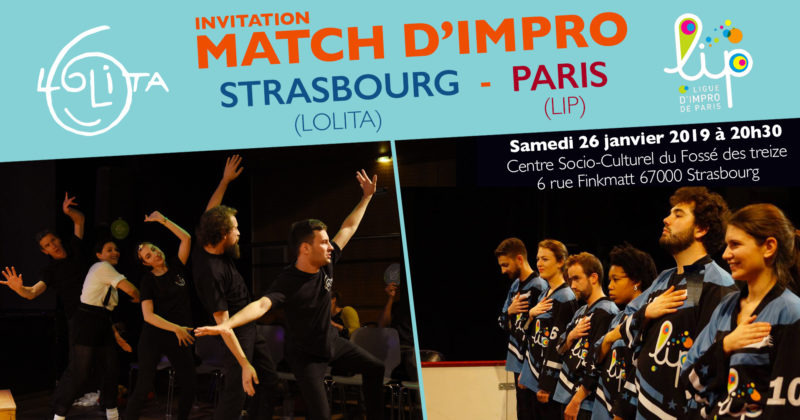 Match d'impro : Lolita vs LIP (Paris)