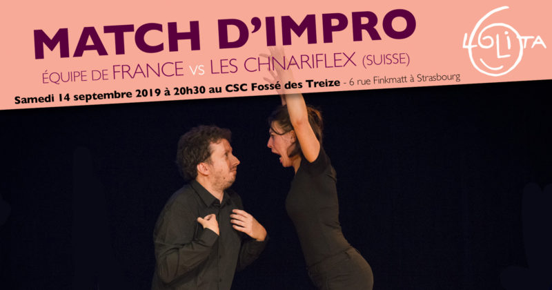 Match d'impro : Équipe de France vs Les Chnariflex