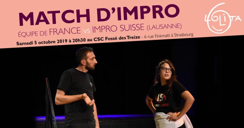 Match d'impro : Equipe de France – Impro Suisse