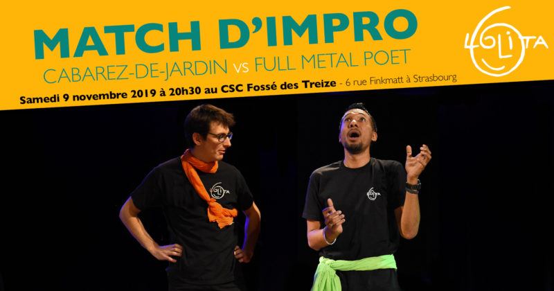 Match d'Impro : Cabarez-de-Jardin vs Full Metal Poet