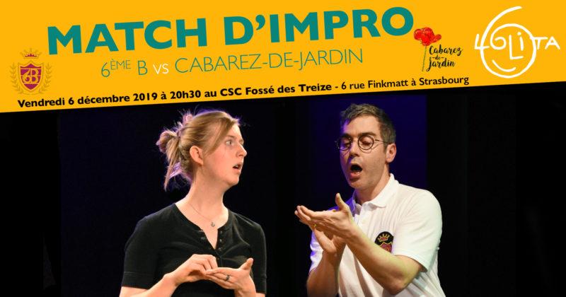 Match d'impro : 6ème B vs Cabarez-de-Jardin