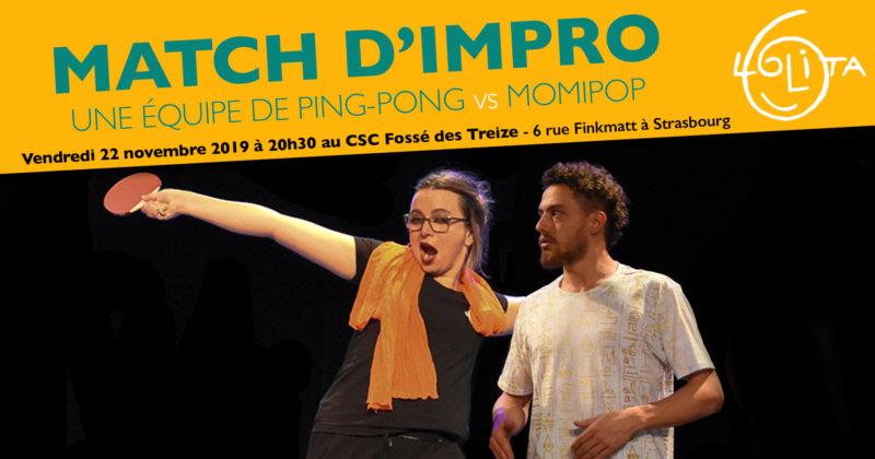 Match d'Impro : Une Équipe de Ping-Pong vs Momipop