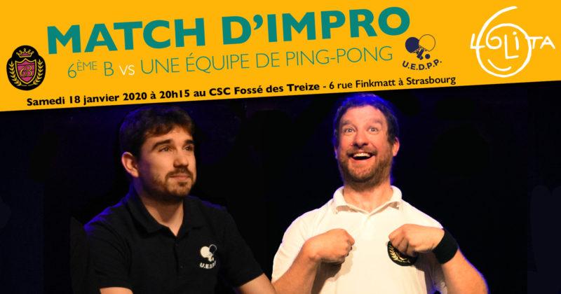 Match d'impro : 6ème B vs Une équipe de ping-pong