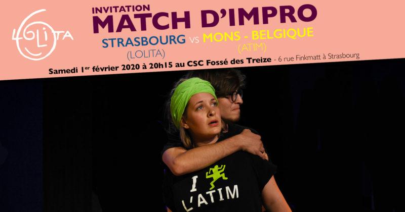 Match d'impro : Lolita vs ATIM Mons (Belgique)