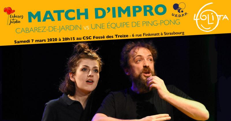 Complet! Match d'impro : Cabarez-de-Jardin vs Une Équipe de Ping-Pong