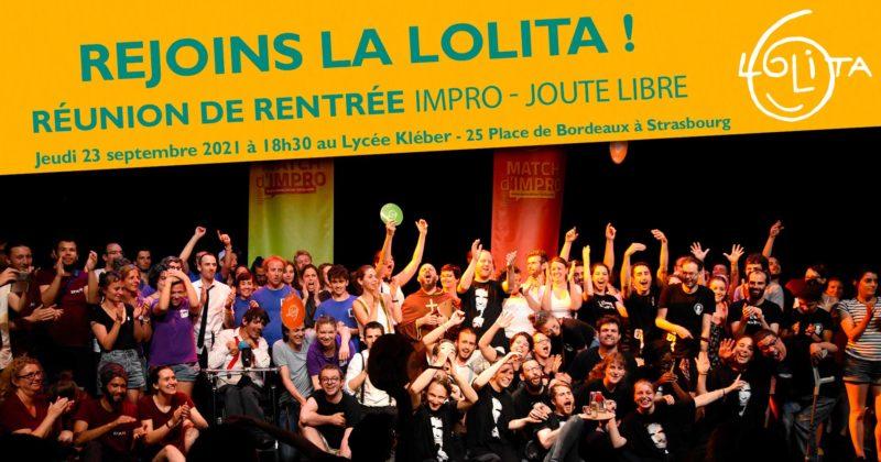 Réunion de rentrée Joute Libre 23/09 : Faire de l'impro à la Lolita!